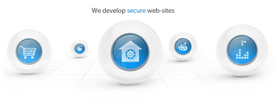We develop secure websites